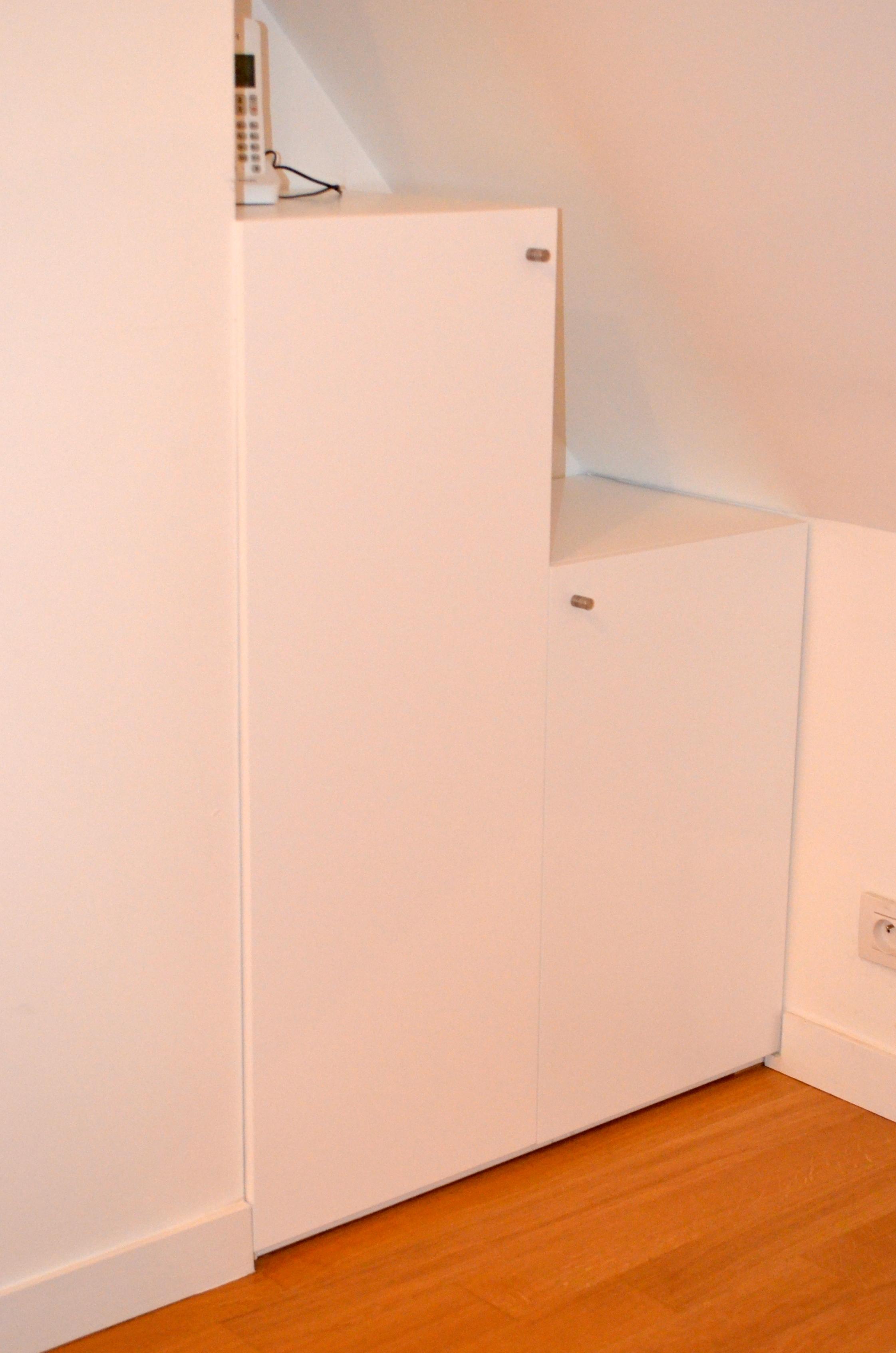 Meuble rangement sous comble good meuble rangement sous comble with meuble rangement sous - Rangement sous lit leroy merlin ...