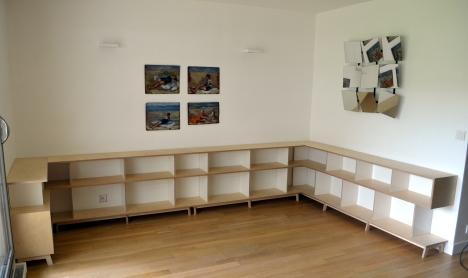 biblioth que basse giorgio cattai. Black Bedroom Furniture Sets. Home Design Ideas